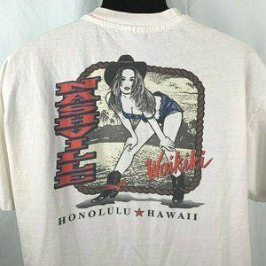 Vintage Hanes Beefy T Shirt XL Nashville Waikiki